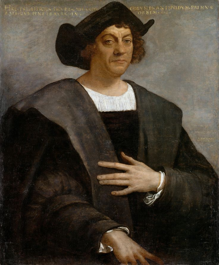Christopher Columbus, aspiring great wealth and prosperity, received funding from Ferdinand of Aragon and Isabelle of Castille, who wanted the same, to explore a new route to Asia. When he landed in Hispaniola instead, he exploited the poor indegenous people, enslaving them and sending them back to Spain, as well as exploiting the rich natural resources of the land for his and the monarch's personal gain in wealth.