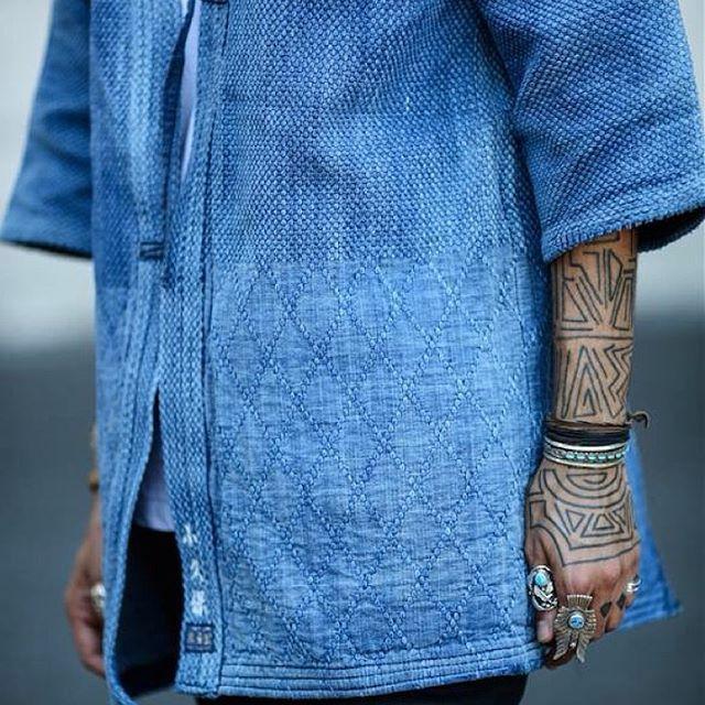 Fair Enough | Fashion Men | Vintage Japanese kendo jackets. Sashiko fabric.