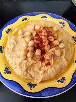 Hummus casero Tahini, Tostadas, Oatmeal, Breakfast, Food, Smoker Cooking, Juicing, Homemade Hummus, Food Processor