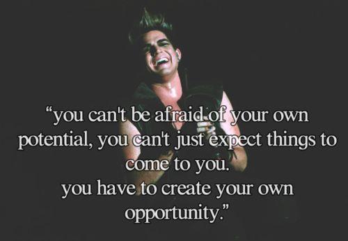 Adam Lambert Quote <3