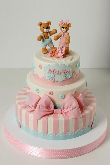 Torturi - Viorica's cakes: Tort botez Maria - this is soooooo cute!!!
