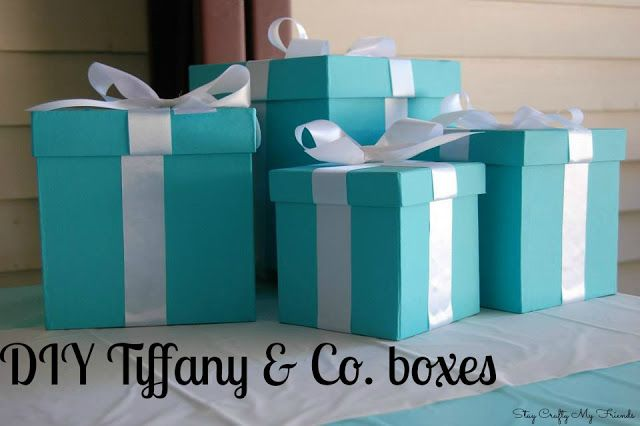 DIY Tiffany & Co. boxes