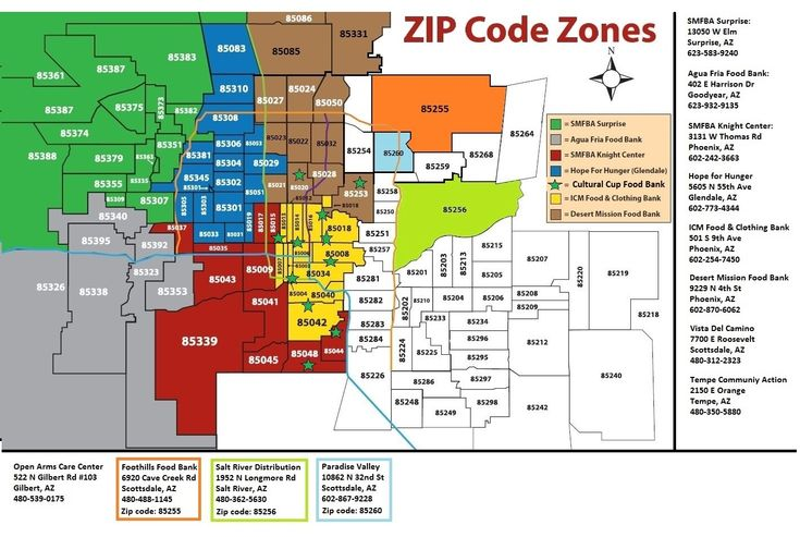 Arizona Zip Code Map Scottsdale Pinterest Student