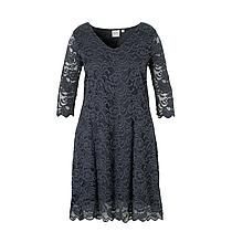 JUNAROSE kanten jurk donker grijsblauw