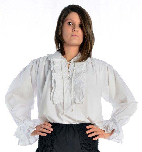 Rüschenbluse Schnürbluse Piraten-Bluse weiß XXXL Baumwolle   http://xxl.damenfashion.net/shop/rueschenbluse-schnuerbluse-piraten-bluse-weiss-xxxl-baumwolle/