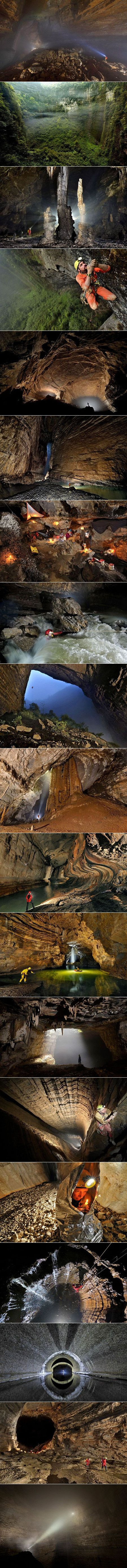 You read that right, a group of adventurers discovered a cave system so massive that it even has its own weather system, complete with wispy clouds and lingering fog. Expert cavers have explored some of the vast caverns in the Chongquing province of China and have taken the first-ever photographs of the natural wonder.