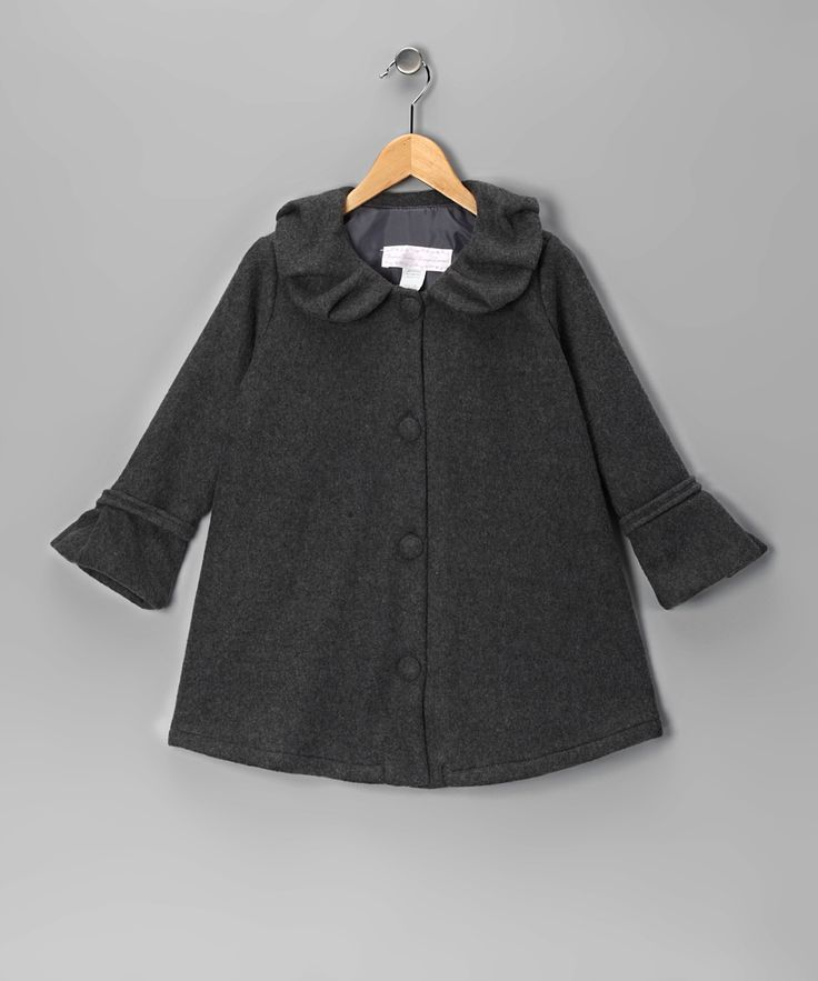 Gray Polar Fleece Swing Coat