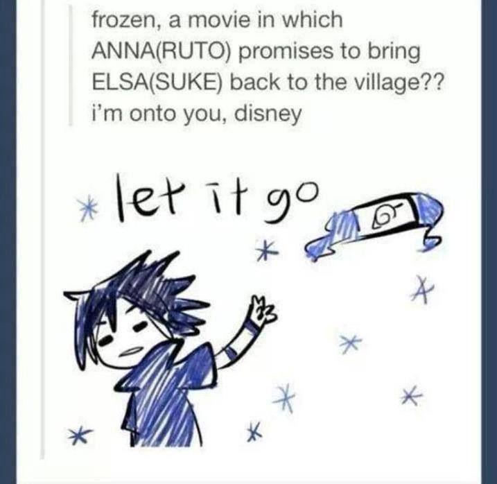 HAHAHAHHA --- Anime/manga: Naruto (Shippuden) Character: Sasuke, DON'T LET IT GO SASUKE!