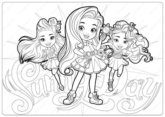 Free Printable Sunny Day Coloring Pages Em 2020 Colorir