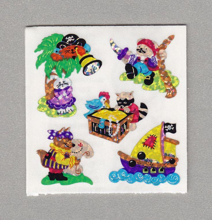 Sandylion+Pirate+Adventure+Stickers+Rare+Vintage+PM413
