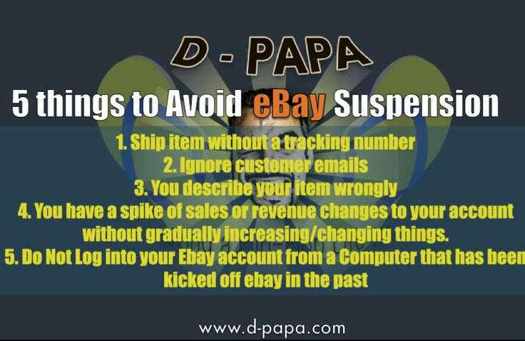 top 5 things to avoid eBay suspension
