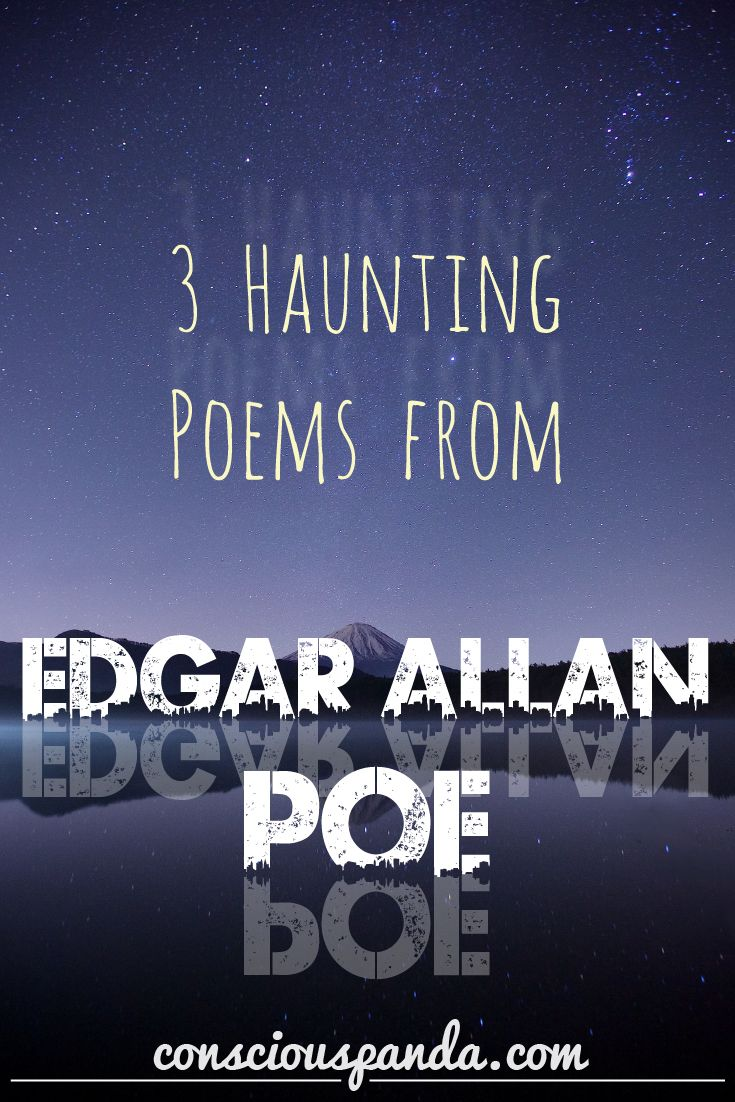 3 Haunting Poems from Edgar Allan Poe