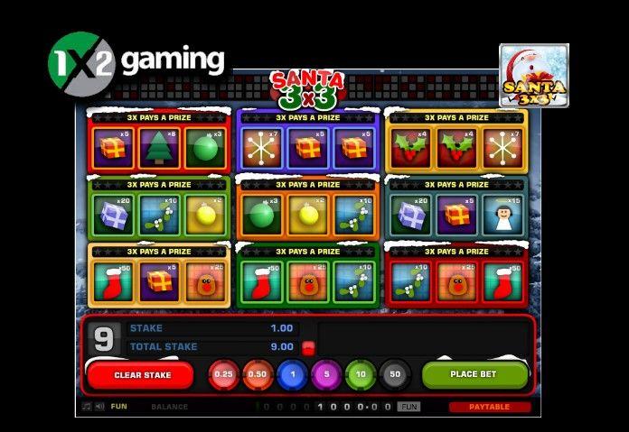 1x2gaming запускает к Рождеству игровой автомат Санта 3x3.  Разработчик игорных решений, компания 1x2gaming, 3 декабря презентовала свой новый трёхбарабанный игровой автомат Santa3x3 с рождественской тематикой.