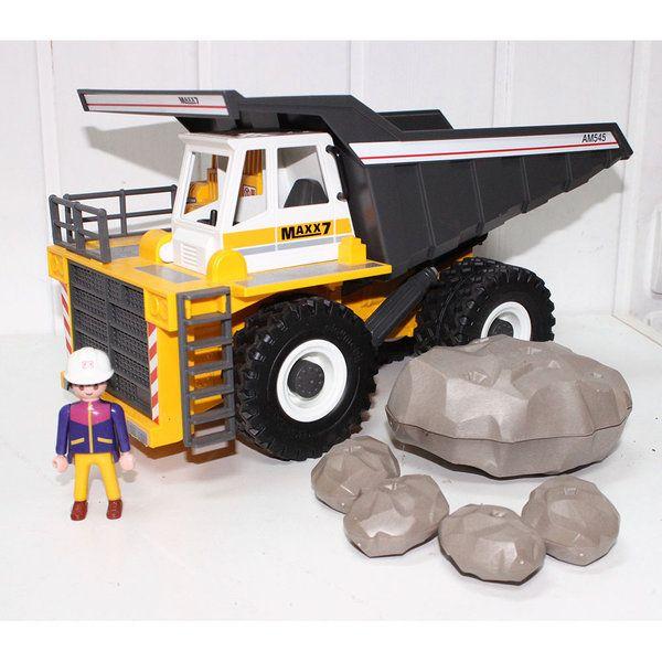 playmobil énorme camion chantier