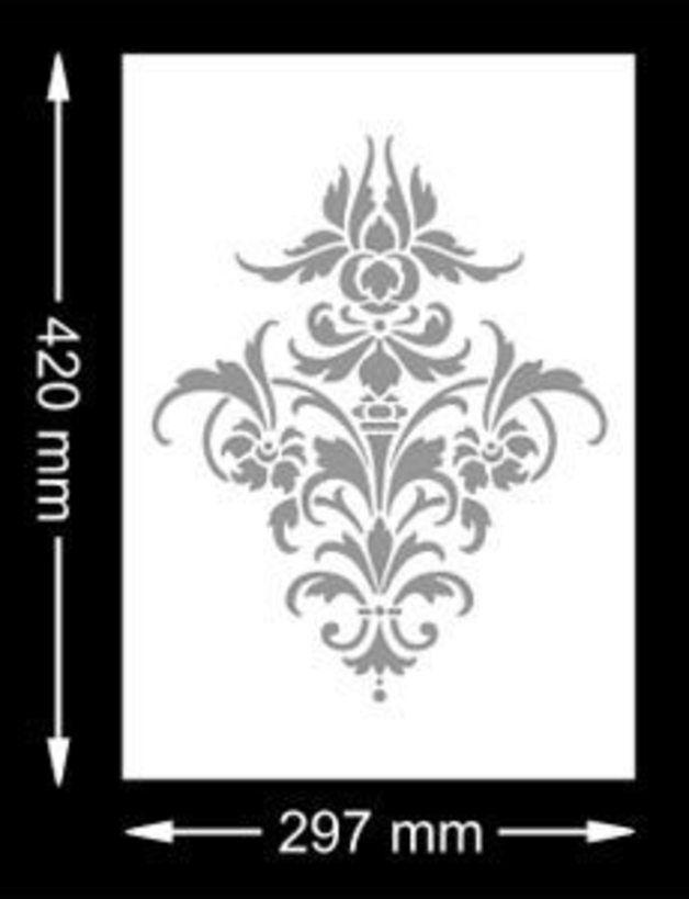 **Schluss mit langweiligen Wänden - Gestaltungsideen für Dein Zuhause direkt vom Hersteller!**  **·····················································** **Motivschablone: Damask Ornament Barock...