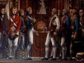 Intercambio de regalos entre el Almirante Nelson  y el General Gutiéreez  una vez firmada la capitulación por parte de las tropas inglesas ....