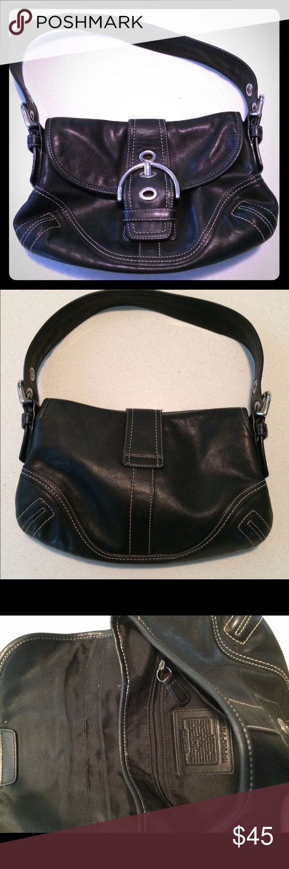 Black coach purse Classic black coach purse. In good used condition. Coach Bags Shoulder Bags
