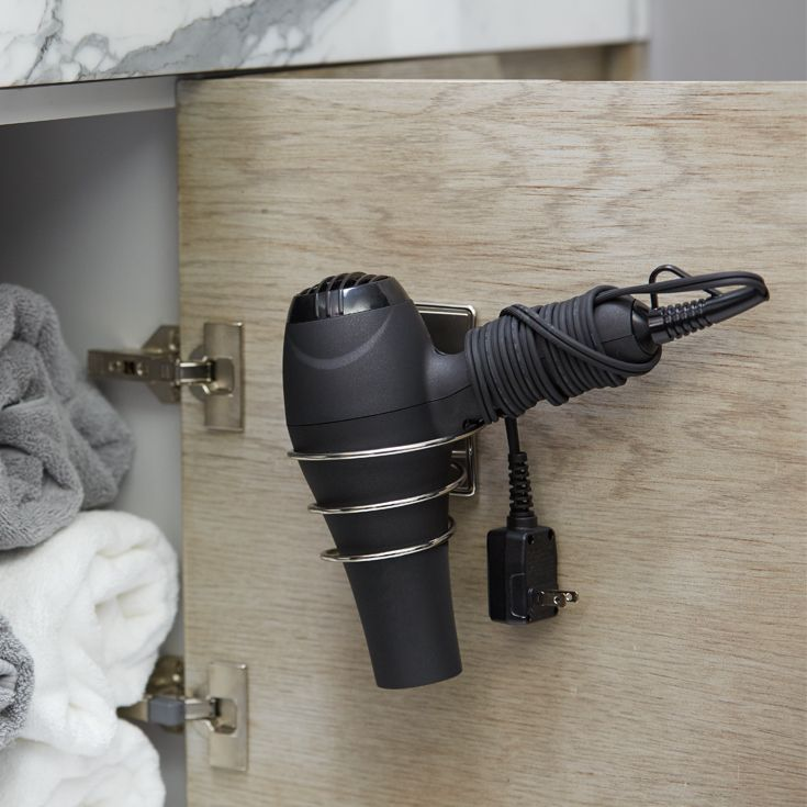Keep Your Hair Dryer Accessible Without Cluttering Precious Counter Space  With Our Command™ Bath Hair