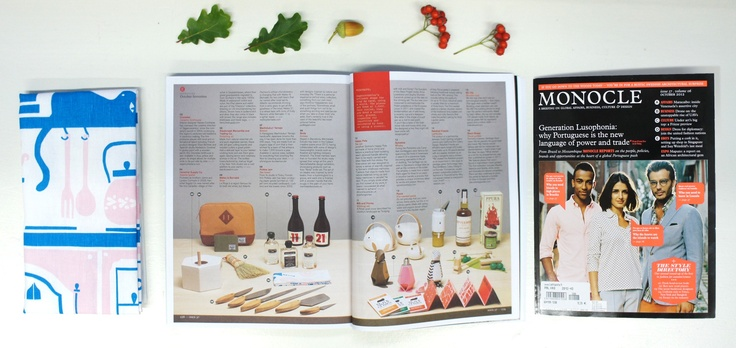 Our Hella tea towel was featured in the Inventory section of the latest issue of Monocle magazine.