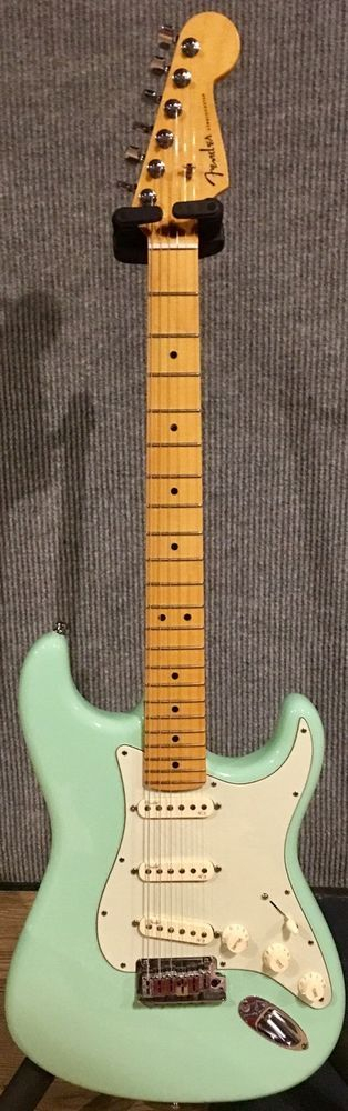 For Sale a 2014, Mint Condition, Fender American Deluxe Stratocaster (V Neck) in Surf Green. The Guitar: The serial number is US14016607. It was manufactured in the USA in 2014. I've had the guitar at my studio for 18 months and not even used it. | eBay!