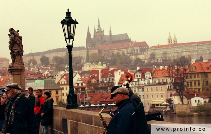 On the sunny side of Charles Bridge @ Prague, Prague #prague #fall #charlesbridge #places #photography