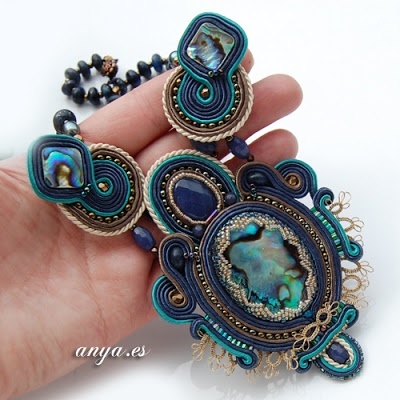 Soutache necklace by anya.es