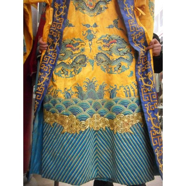 ancient chinese robes  59chinese handwork Silk embroidery Emperor Dragon Robe ZMSX2239