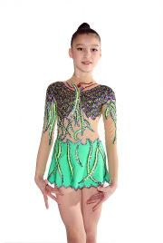 ... beautiful great Olynstone rhythmic gymnastics leotard for competition wear.