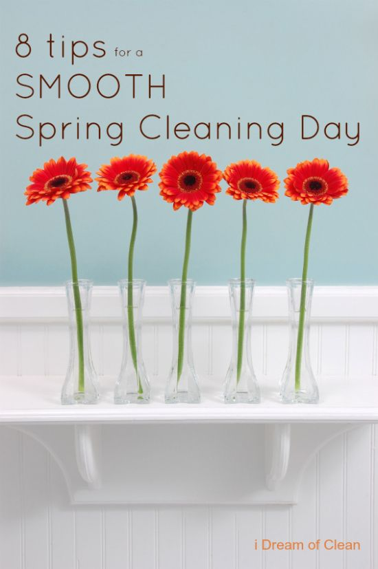 8 tips for a smooth spring cleaning day!