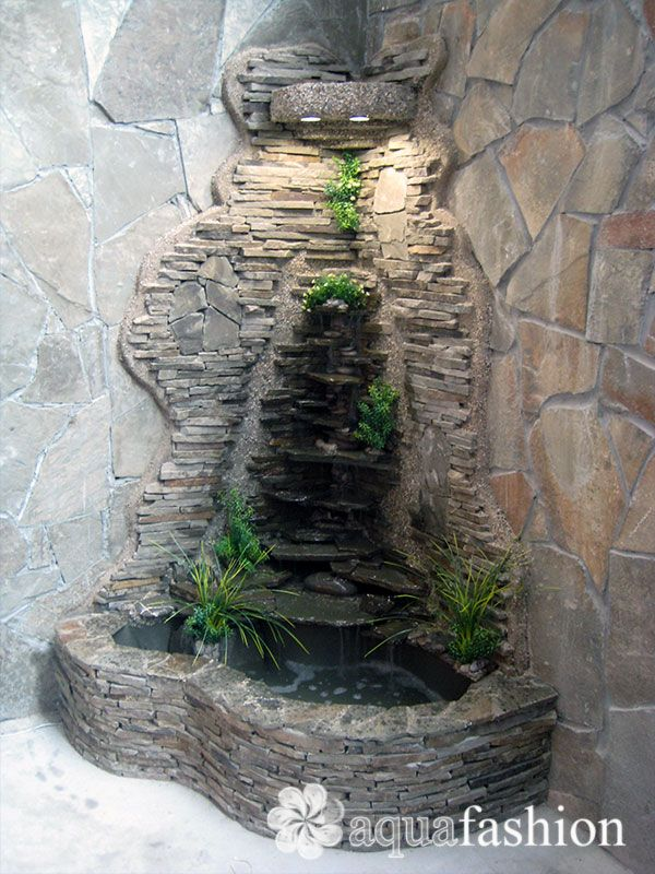 Изготовление домашних водопадов своими руками