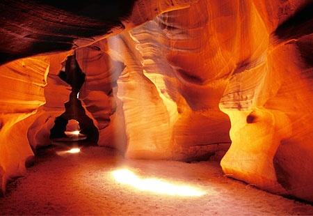 This intricately sculpted slot canyon, on Navajo land near Page, Arizona, is a tourist magnet