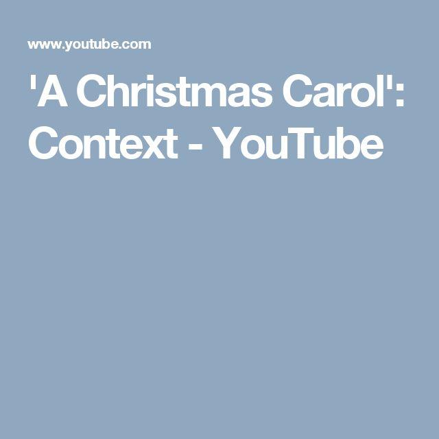 'A Christmas Carol': Context - YouTube