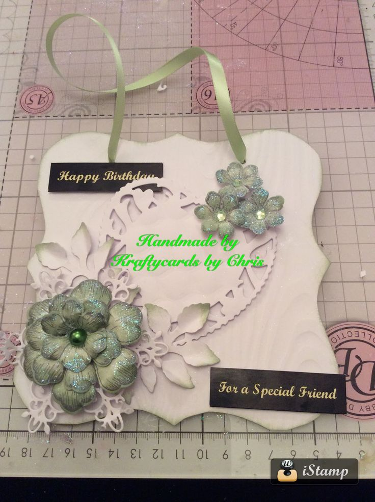 Kraftycards by Chris: Green and White Plaque