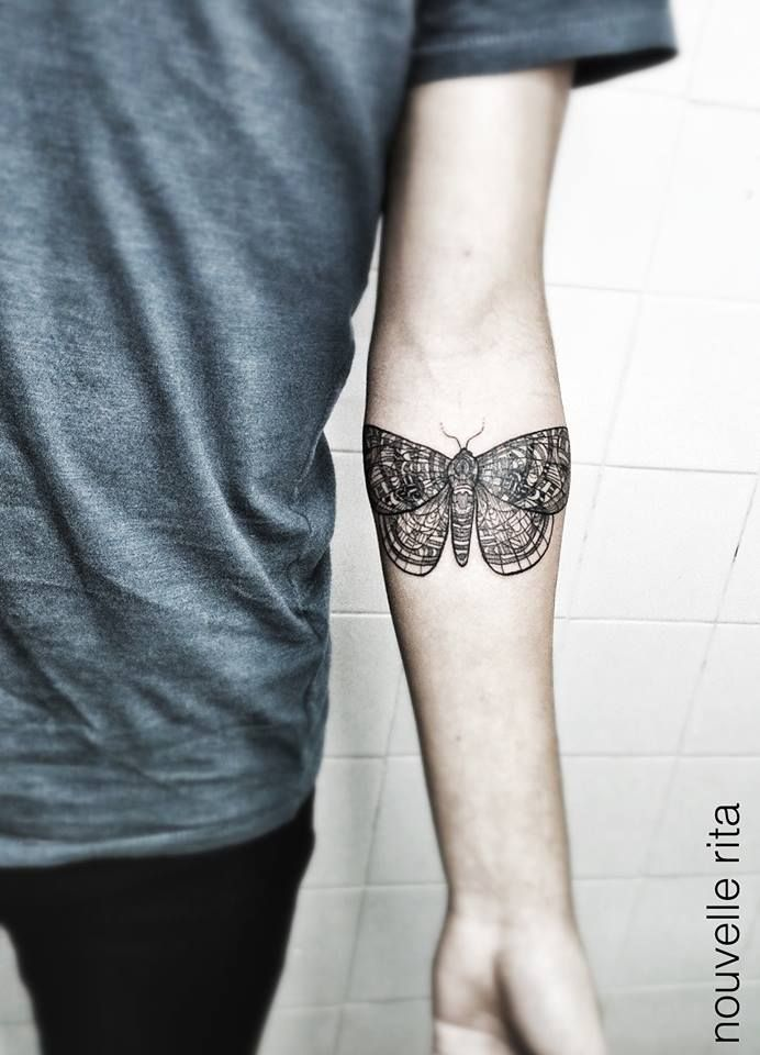 Moth ~ tattoo artist Nouvelle Rita  #body_art