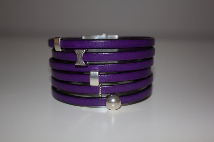 HalaBay Design purple large cuff leather bracelet! www.halabaydesign.com