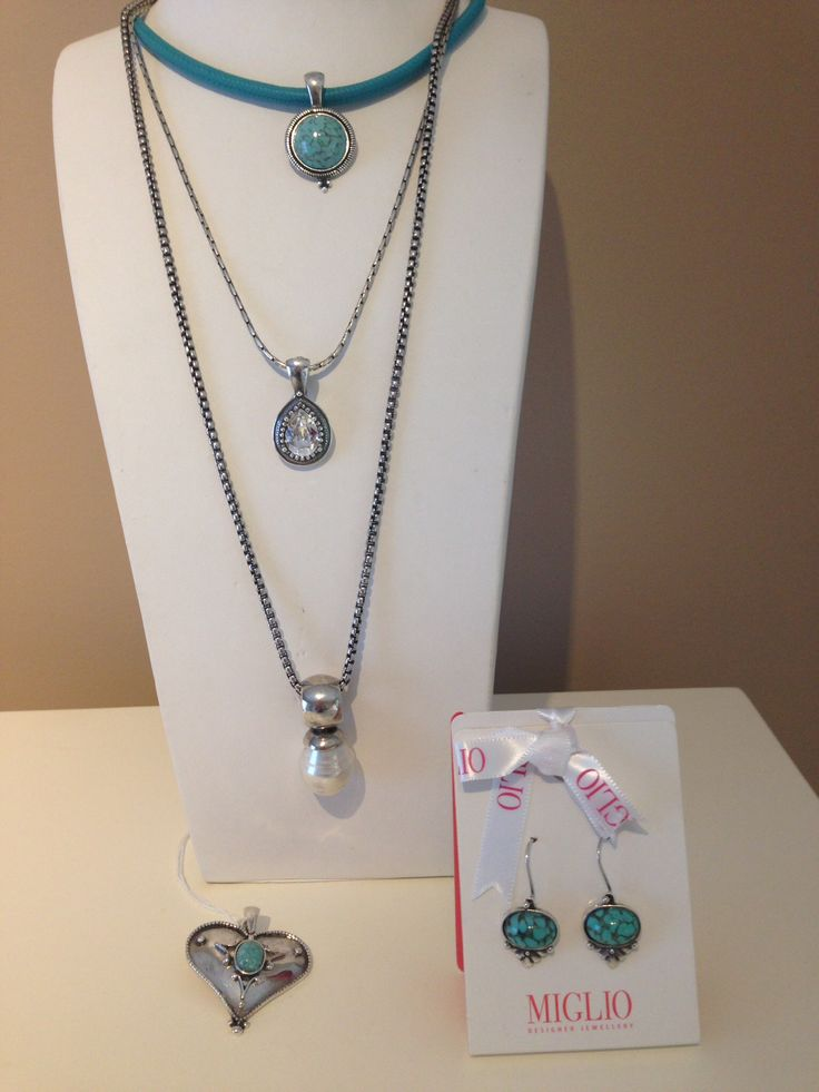 Beautiful turquoise for summer. Just add white linen and a dash of sun shine. Orders can be mailed to Yolandi - yolandi@migliojewellery.co.za
