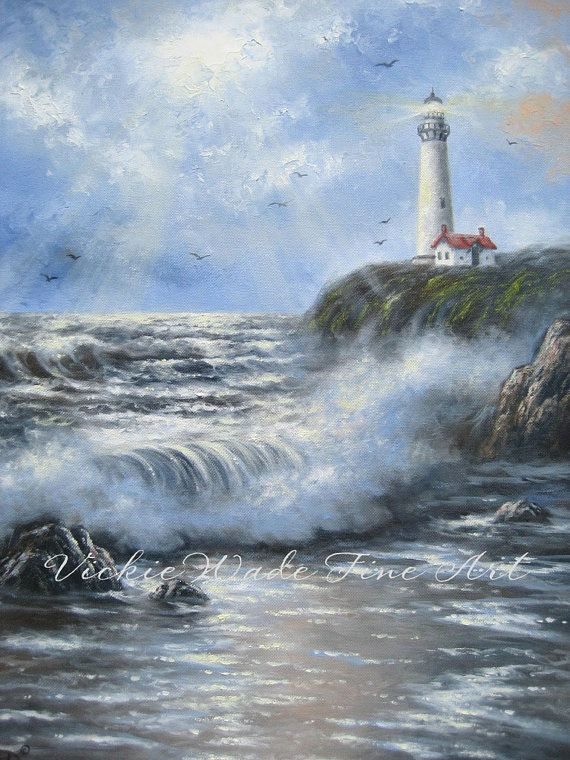 Chocolate Sea Oil Painting seascape paintings by VickieWadeFineArt