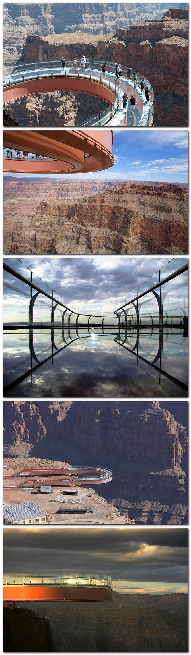 DARE TO STEP OUT ON TO THE SKYWALK. Grand Canyon