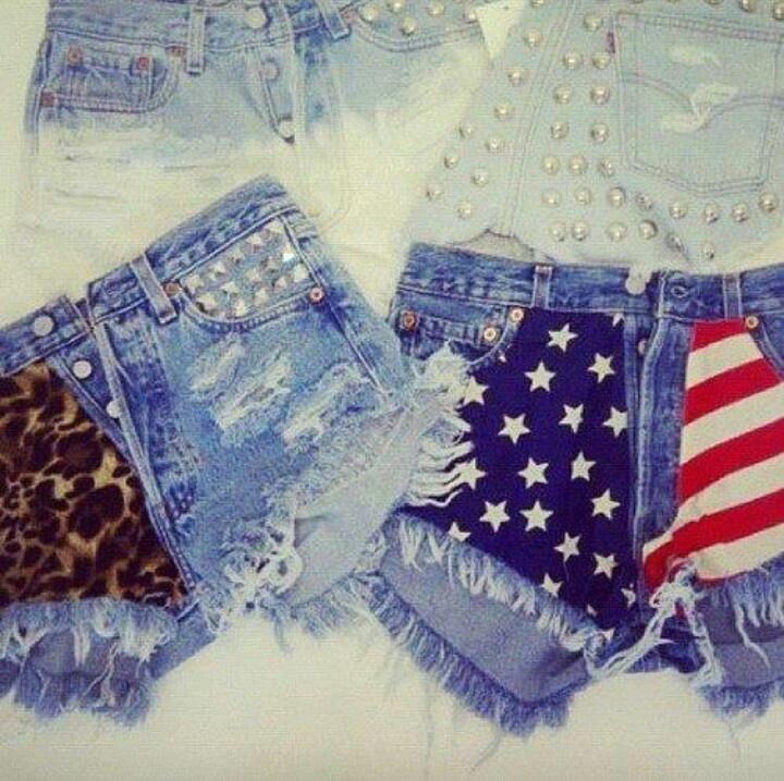 Diy shorts - cute American flag ones!