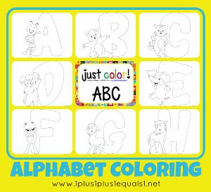 Just Color Free Coloring Printables Alphabet PagesFree