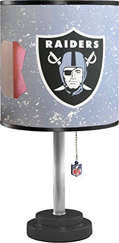 NFL Oakland Raiders Table Lamp with Die Cut Lamp Shade  CFL Bulb ** Click on the image for additional details. (This is an affiliate link and I receive a commission for the sales)