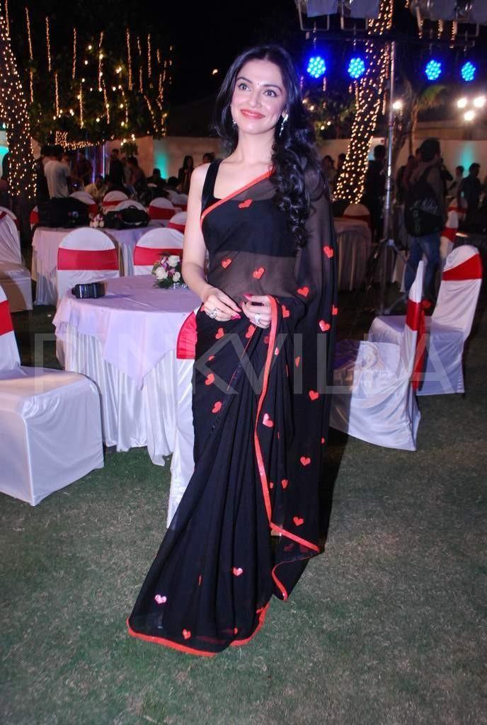 Divya Khosla - cute heart beaded saree.