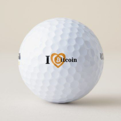 I Heart Love Bitcoin Logo Symbol Crypto Golf Balls - home gifts ideas decor special unique custom individual customized individualized