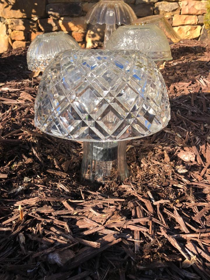 Diy glass solar mushroom the shabby tree try if for