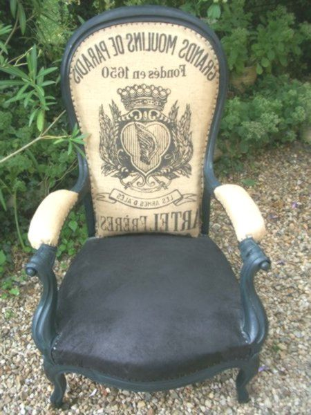 Getreidesackrücken für gepolsterten Stuhl