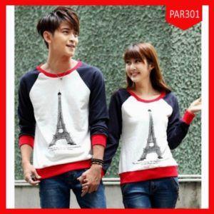 Fashion Sweater Couple Best Paris Kombi Terbaru