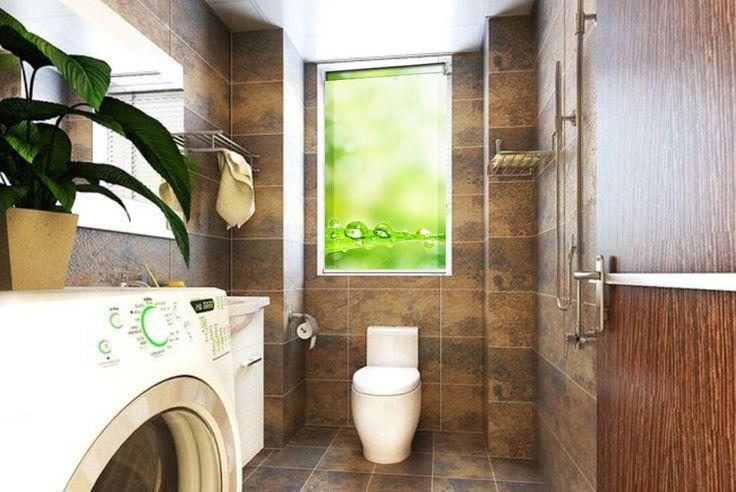 Zieleń w łazience zawsze porządana. Więcej wzorów fotorolet na