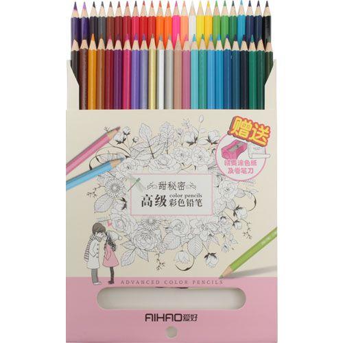 Színes ceruza készlet 48 szín Aihao  Első osztályú puha, zsíros ceruzák. Gyönyörűek a színek, a pasztellek és a sötétebb árnyalatok is. Könnyen faragható.