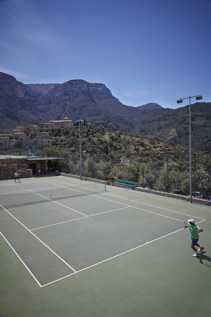 Fancy a game of tennis with a view of the spectacular Tramuntana mountains?