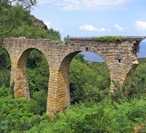 Roman Aquaduct on The Way of St James San Sebastian, Spain